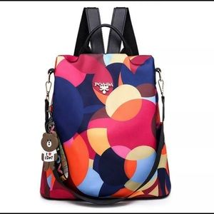 Fashion Women Lady School Leather Girls Backpack T